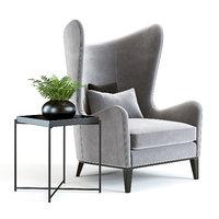 3D model sofa chair monroe armchair