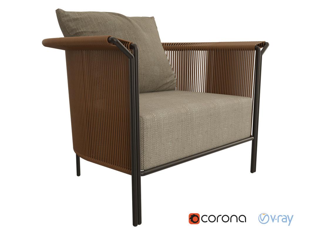 3D lema alton armchair model