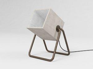concrete lamp model