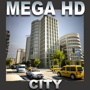 3d 3ds city buildings construction street
