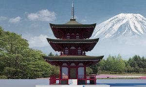 asian temple asia 3D