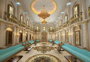 3D islamic sitting hall complete model