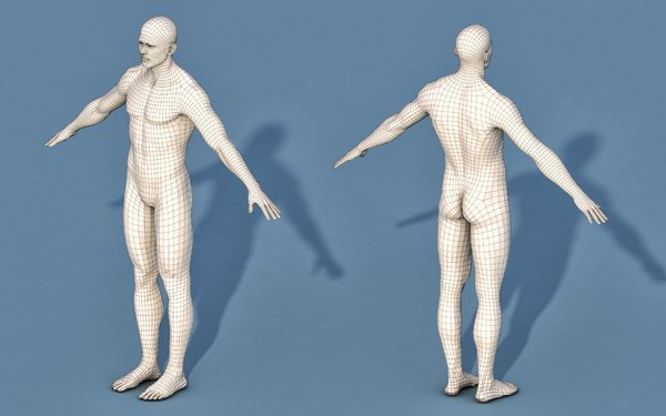 base character male 3D