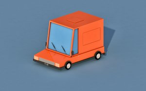 car cartoon delivery 3D