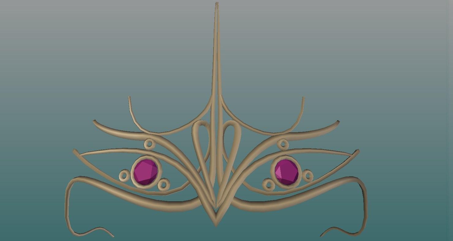 3D tiara model