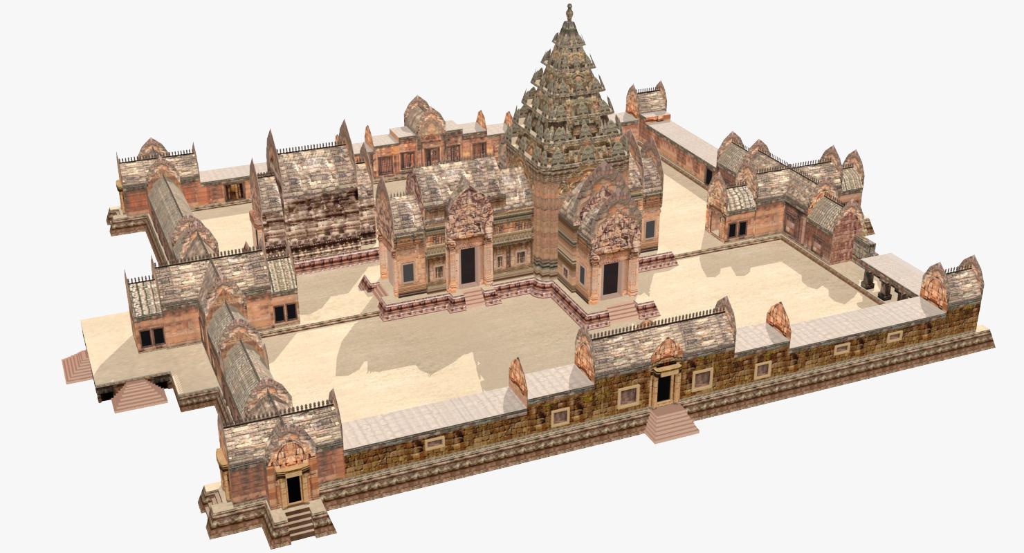3D landscapes park temple phimai model