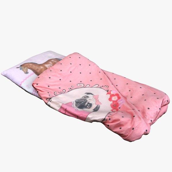 bedding girl 3D model