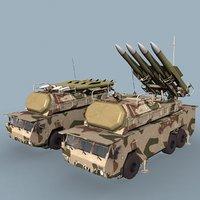 russian sa-17 buk-m2e 3d model