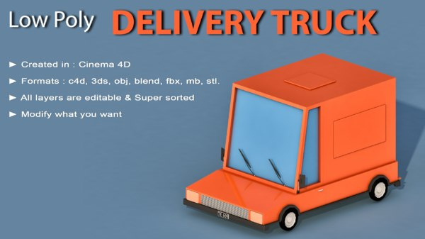 car cartoon delivery 3D