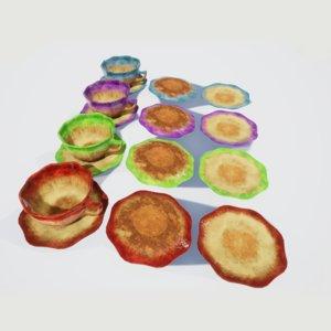tea cup saucer plate 3D