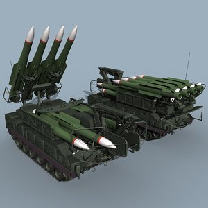 3d russian sa-11 gadfly sa-17 grizzly