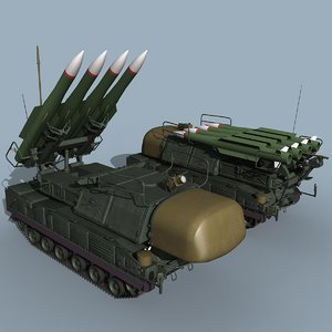 russian sa-11 gadfly sa-17 grizzly 3d model