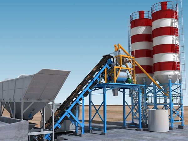 3D cement mixing plant