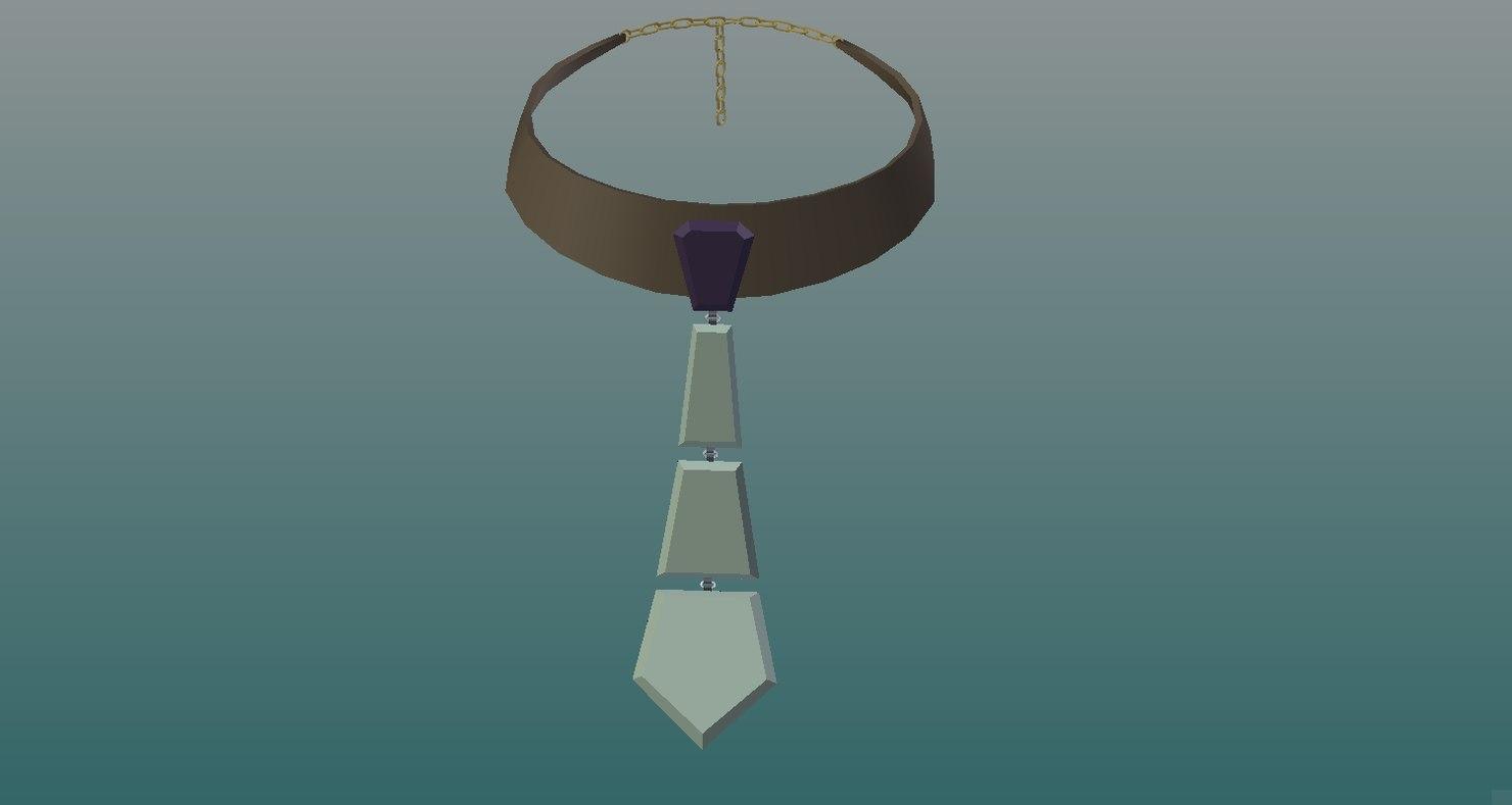 tie necklace 3D