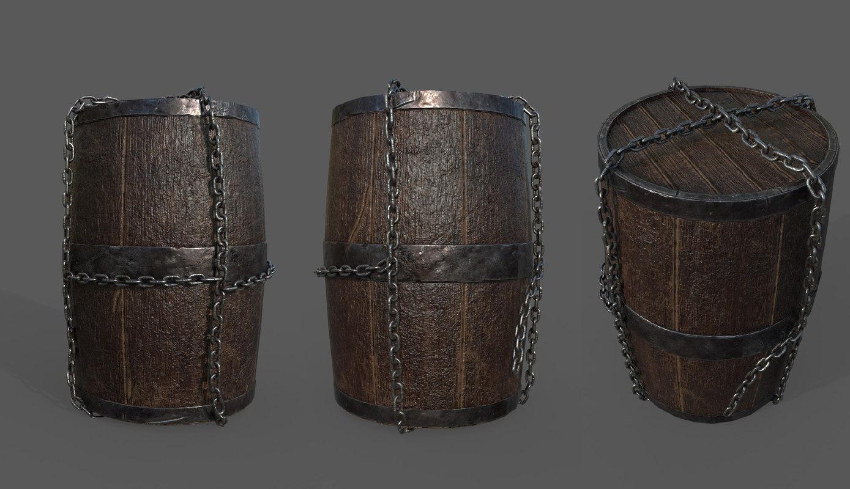barrel pbr unity 3D