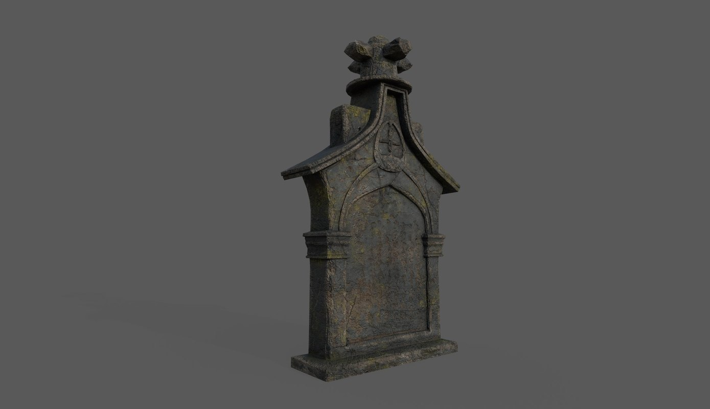 3D tombstone bloodborne style model