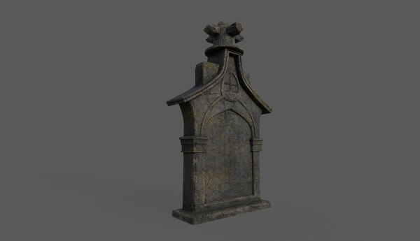 3D tombstone bloodborne style model