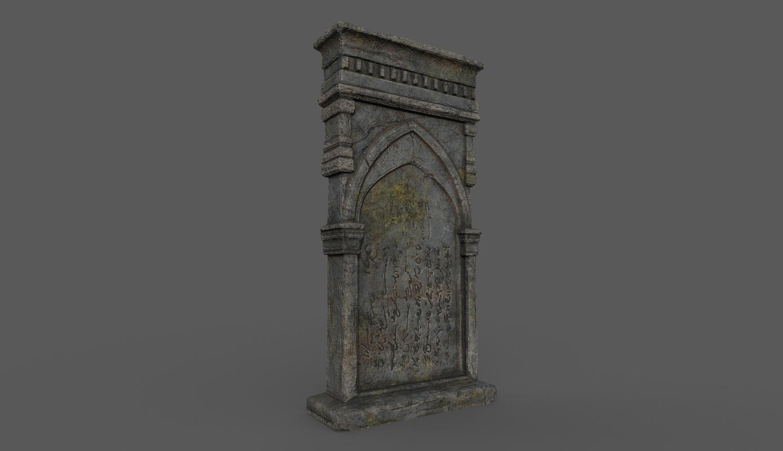 tombstone bloodborne style 3D