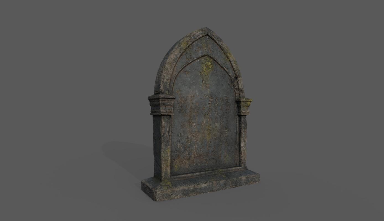 tombstone bloodborne style 3D model