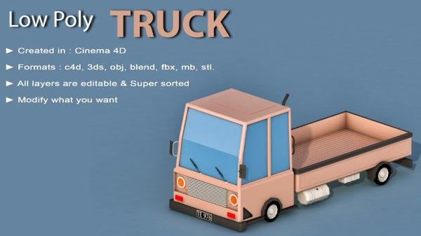 car cartoon truck 3D model