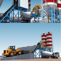 Cement mixing plant and mixer truck