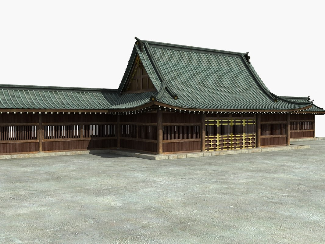 japanese temple 3D
