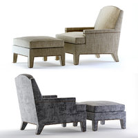 3D model boyd chair ottoman