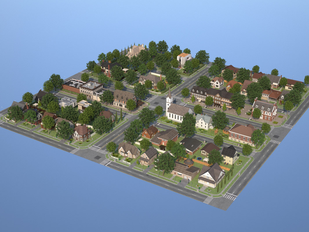 city town kc10 3d max