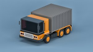 3D model car cartoon truck