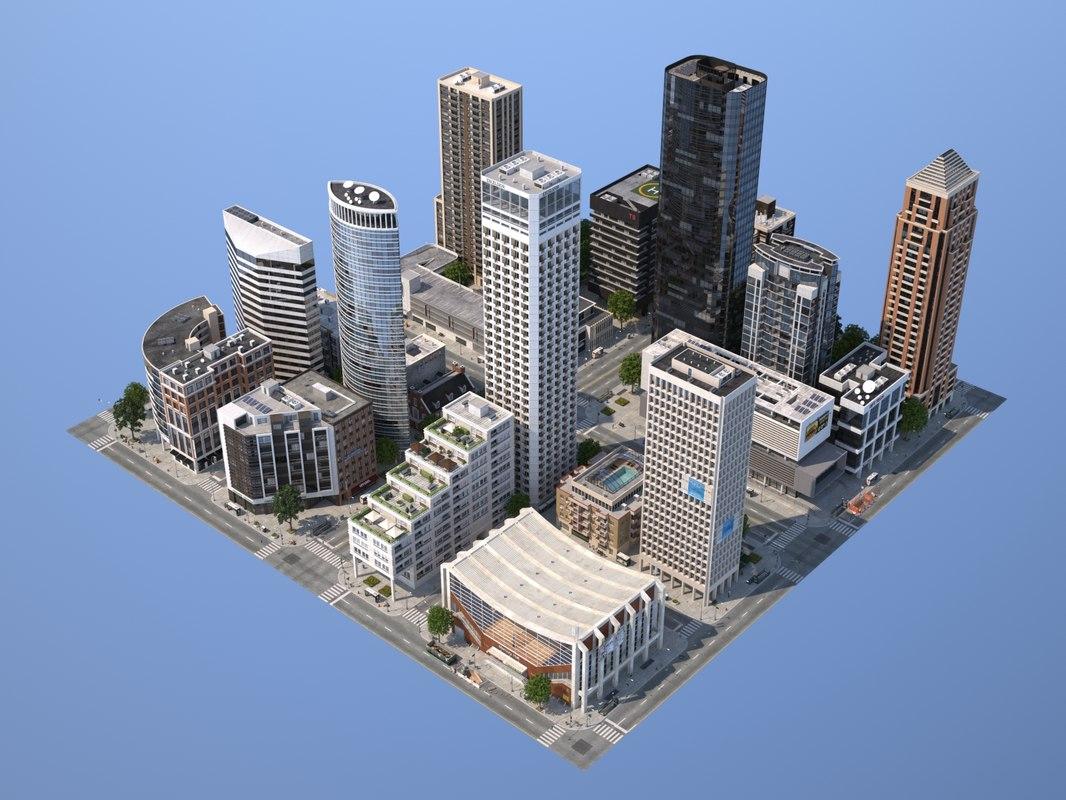 3d model modular city