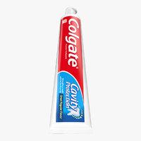 3D tube colgate toothpaste tooth