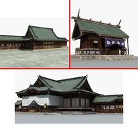 japanese temple 3D