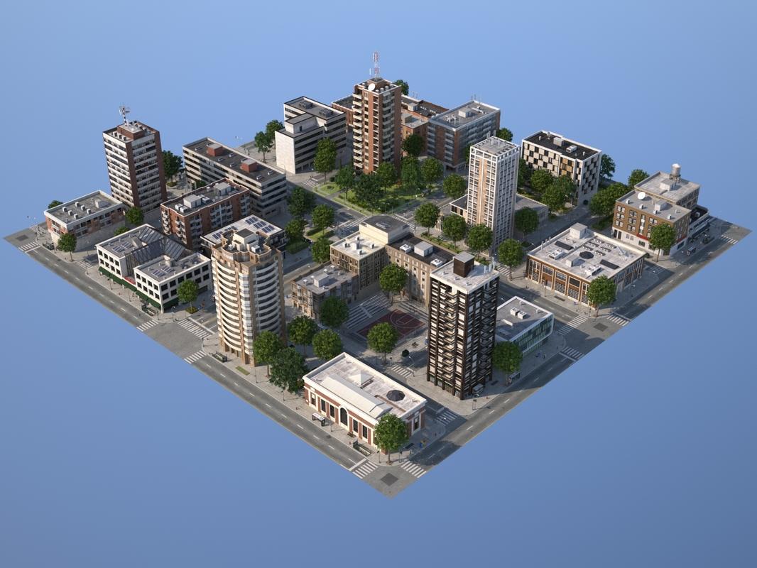 city medium size 3ds