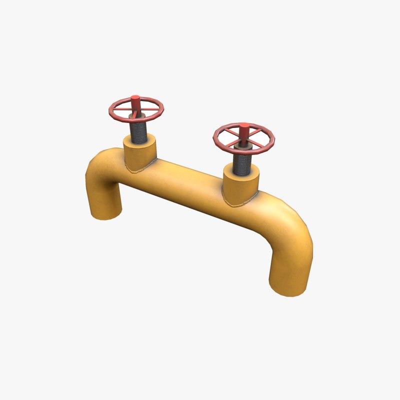 pbr gate valve 3D