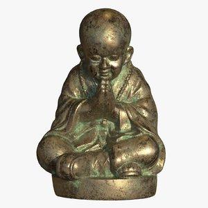 buddhist monk 3D