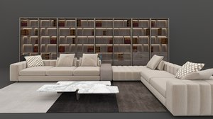 minotti sofa library model