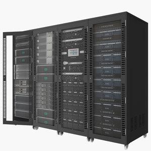 server technology 3D model