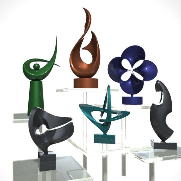 3D sculpture statues art