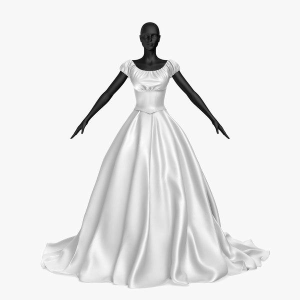 3D wedding dress 20v model