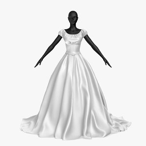 3D wedding dress 20v model