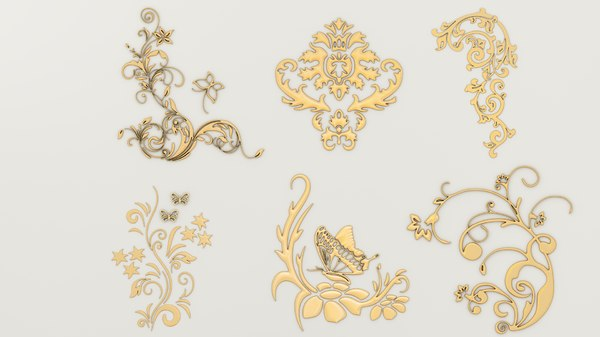 3D decorative patterns model
