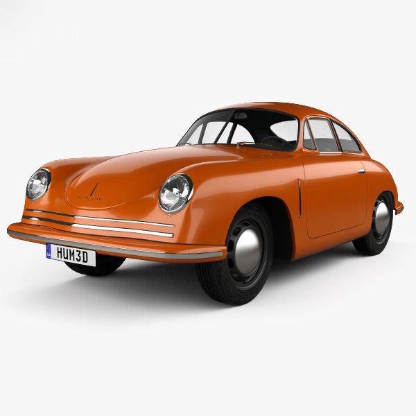 3D porsche 356 1948