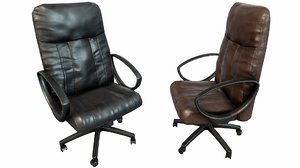 old office chair pbr 3D model