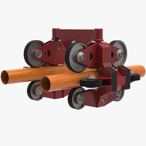 3D model roller coaster wheel