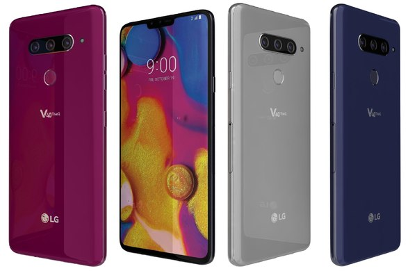lg v40 thinq colors 3D model