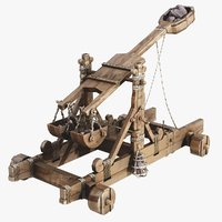 old catapult 3d model