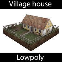 3D village house - diorama model