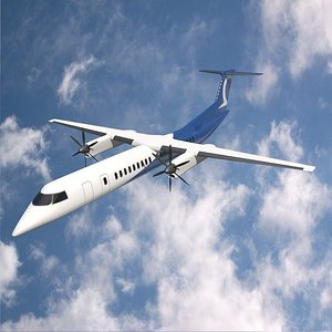 airplane propellers passenger 3D