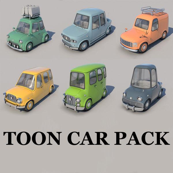 car pack 6 3D model