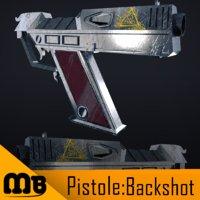 pistole gun weapon 3D model
